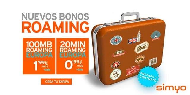 bonos de roaming de Simyo