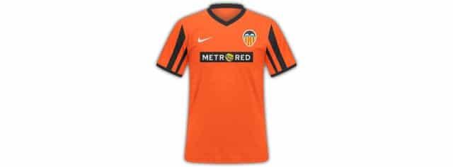 camiseta del Valencia CF patrocinado por Metrored