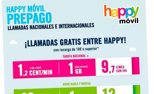 prepago de Happy Móvil