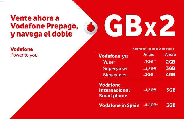promoción de verano del prepago de Vodafone