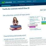 Tarifas Movistar Vive sin permanencia