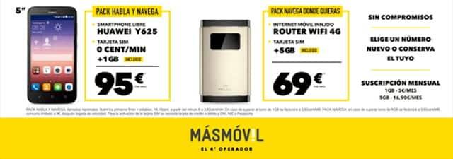 packs Masmóvil en Carrefour