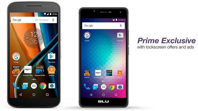 smartphones Amazon Moto G y Blu