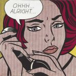 Mujer vintage teléfono