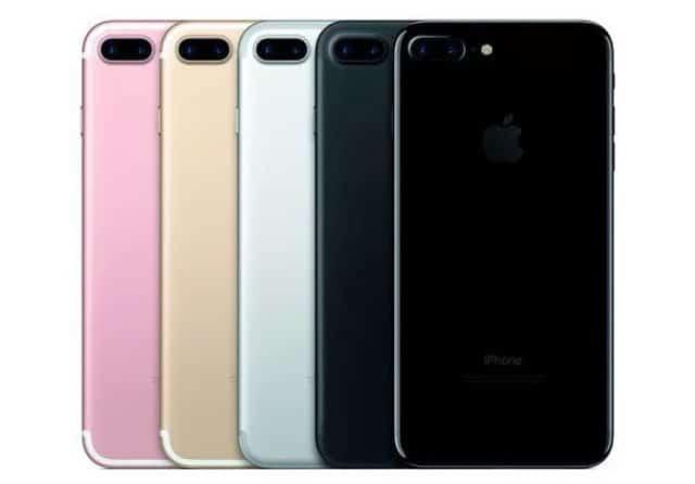 colores del iPhone 7 y iPhone 7 Plus