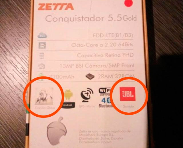Etiqueta del Zetta Conquistador