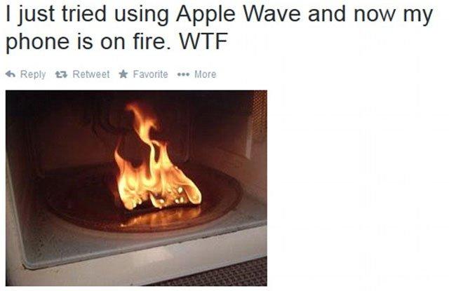 iPhone en un microondas