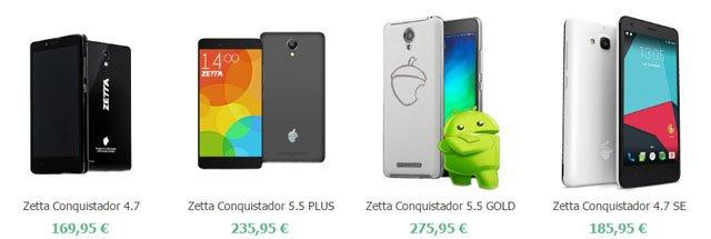 Smartphones Zetta Conquistador