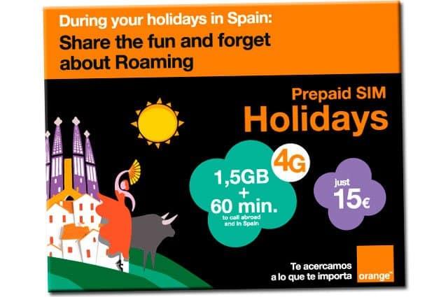 tarjeta SIM Holidays de Orange