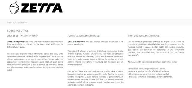 Sobre nosotros de Zetta