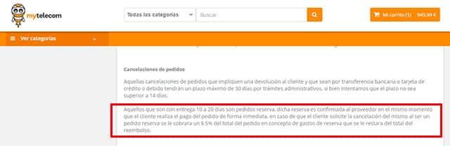 estafa de MyTelecom.es