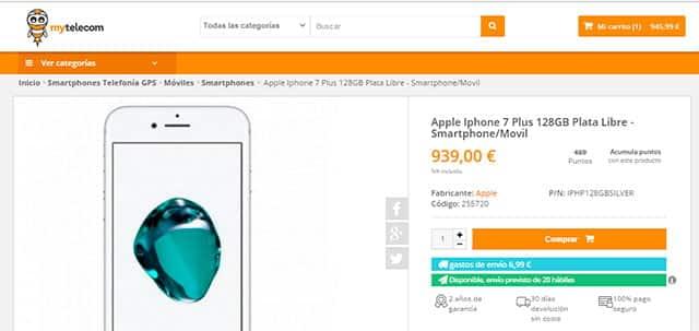 comprar iPhone 7 Plus en MyTelecom.es