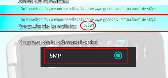 MyWigo ahora reconoce que la cámara del UNO Pro es de 5MP