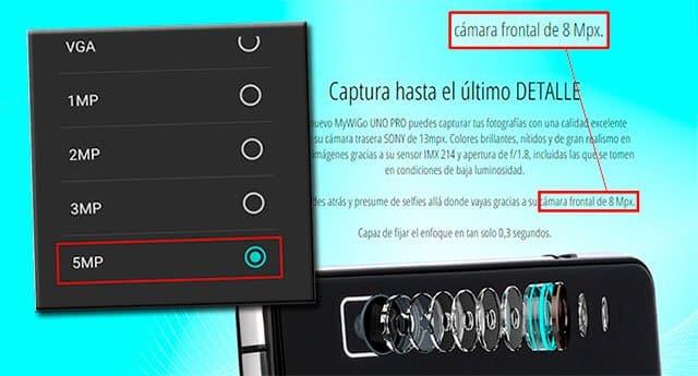 cámara frontal MyWigo UNO Pro