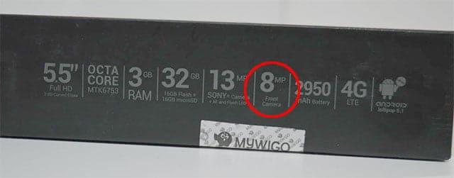 cámara frontal del MyWigo UNO Pro