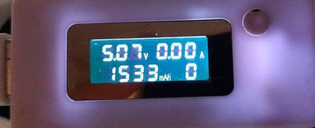 medición de la batería del MyWigo Excite GIII