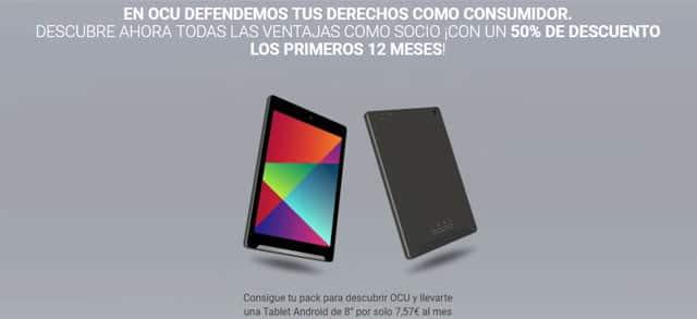 tablet Android que regala la Ocu