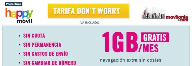 tarifa Don't Worry, Be Happy Móvil