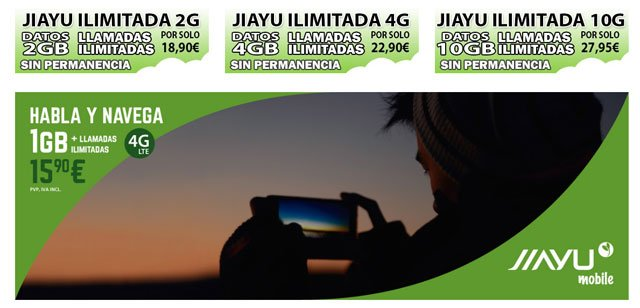 tarifas de Jiayu Mobile