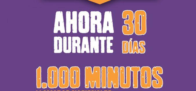 Llamaya Móvil regala 1.000 minutos nacionales por recargar 10 euros