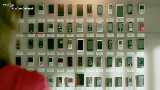 Los móviles de La casa de papel