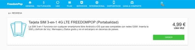 migración de FreedomPop por 5 euros