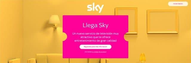 página web de Sky España