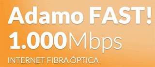 La fibra de Adamo es de 1Gbps