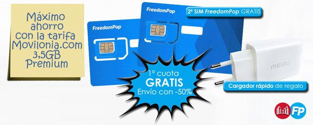 Welcome Pack de FreedomPop en Movilonia.com
