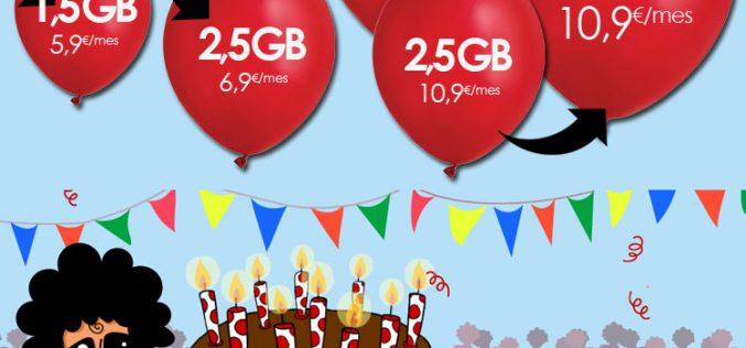 Pepephone mejora también las condiciones de la tarifa VIP 4G