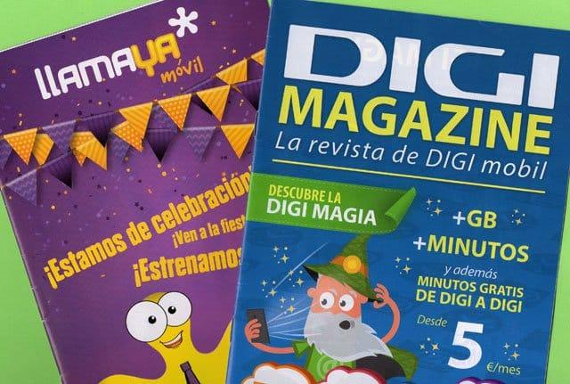 revistas de Digi y Llamaya Móvil