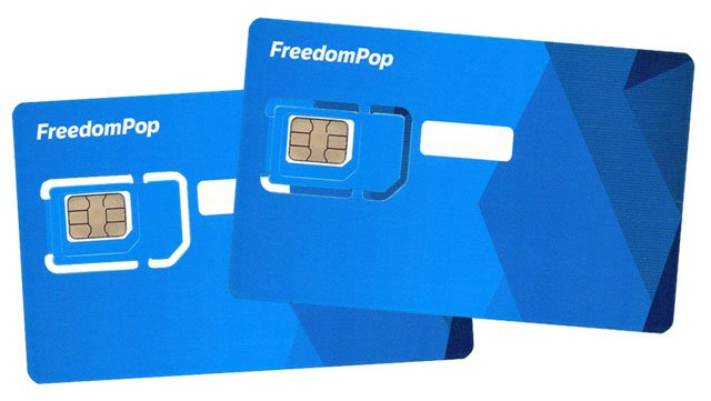 2 tarjetas SIM de FreedomPop