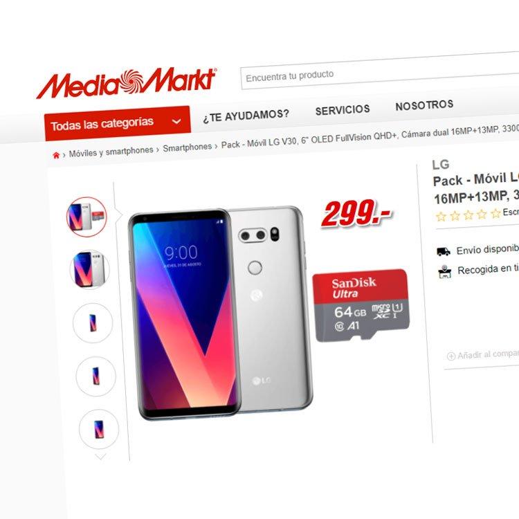 fe7f56a83ba La última polémica de Media Markt: LG V30 por 299€… que ahora no entrega    Movilonia.com