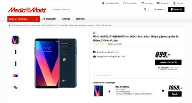 LG V30 por 899 euros