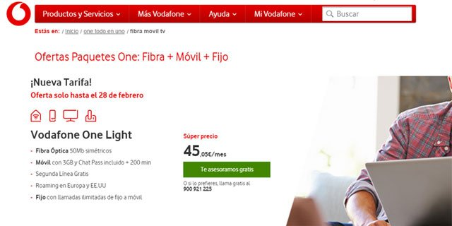 Vodafone One Light