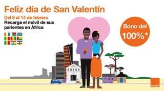 San Valentín con Orange