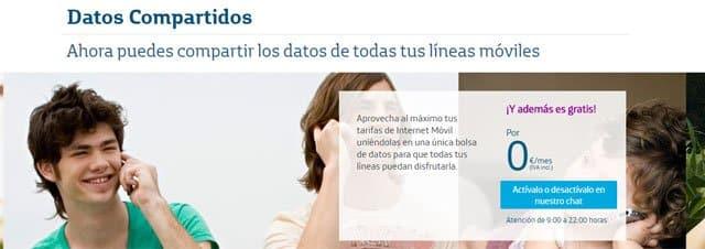 Datos Compartidos de Movistar