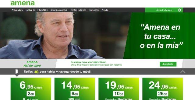 anuncio de Amena con Bertín Osborne