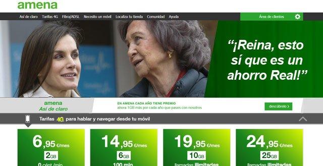 anuncio de Amena con Letizia y Sofía
