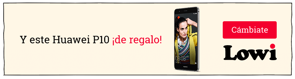 banner de Lowi con la oferta del Huawei P10