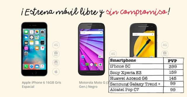 tienda online de smartphones de Lowi
