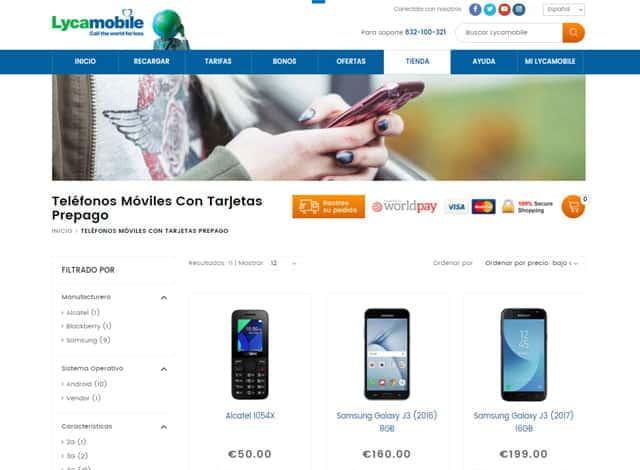tienda de móviles de Lycamobile