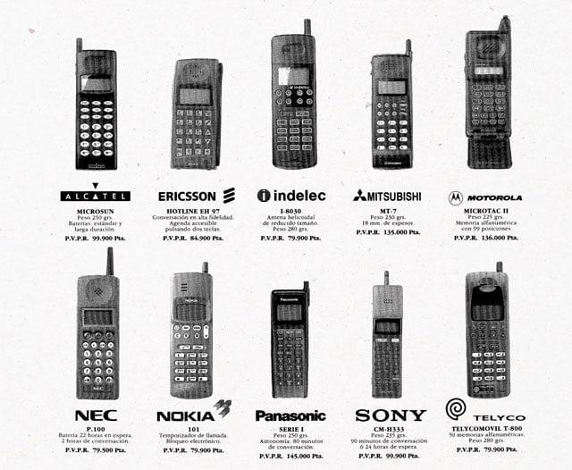 10 teléfonos móviles de MoviLine en 1993