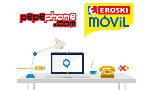 ADSL sin fijo de Pepephone y Eroski Móvil