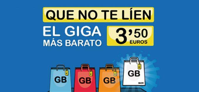 Suop desafía al mercado con el GB más barato: 3,5€