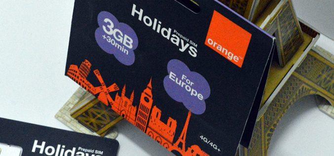 Orange rescata su tarjeta Holidays para turistas