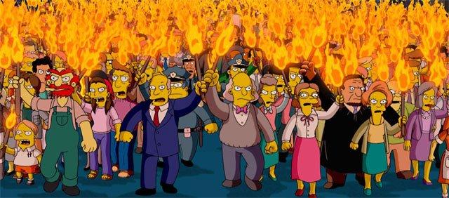 masa enfurecida de Los Simpsons