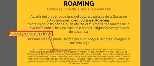 roaming de Parlem