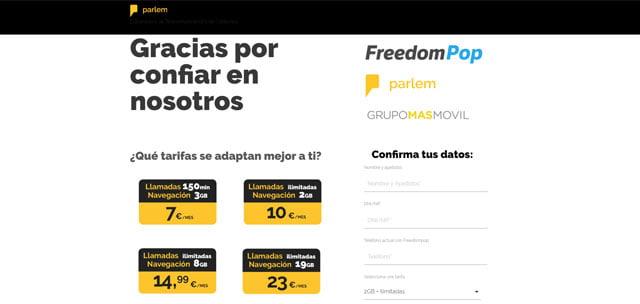 FreedomPop, Parlem y Yoigo