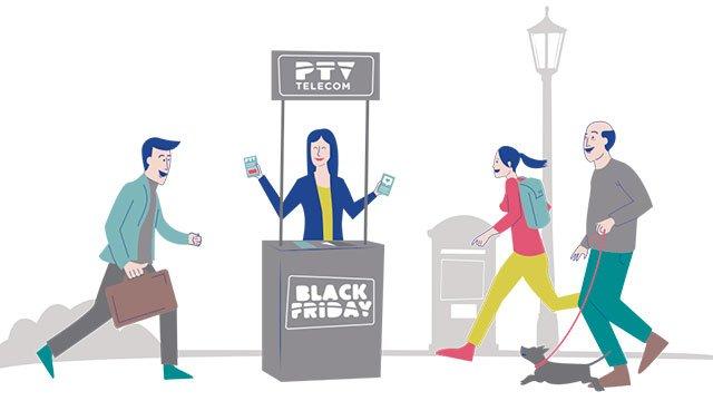 oferta del Black Frida de PTV Telecom con fibra gratis